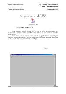 Proiect Java - Mini Editor Texte - Pagina 1