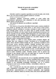 Metode de Protecție a Metalelor Împotriva Coroziunii - Pagina 2