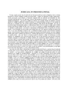 Judecata in Procesul Penal - Pagina 1