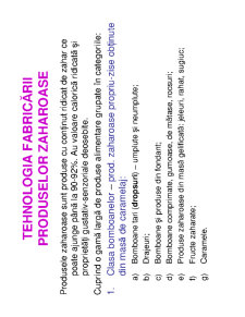 Tehnologia Fabricarii Produselor Zaharoase si a Bomboanelor Umplute - Pagina 1