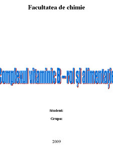 Complexul Vitaminic B - Pagina 1