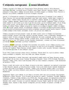 Cetățenia Europeană - o Nouă Identitate - Pagina 1