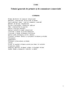 Tehnici Generale de Primire și de Comunicare Comercială - Pagina 1