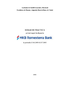 Dosar de Practica - Romexterra Bank - Pagina 1