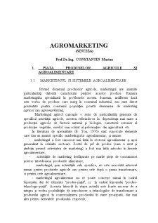 Agromarketing - Sinteza - Pagina 1