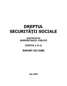 Dreptul Securității Sociale - Pagina 1