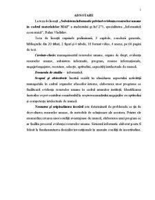 Subsistem Informatic Privind Evidența Resurselor Umane în Cadrul Materialelor MAI - Pagina 3
