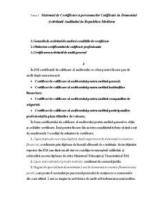 Sistemul de Certificare a Persoanelor Calificate in Domeniul Activitatii Auditului in Republica Moldova - Pagina 1