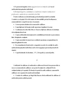 Sistemul de Certificare a Persoanelor Calificate in Domeniul Activitatii Auditului in Republica Moldova - Pagina 2