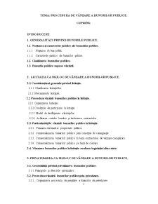 Procedura de Vânzare a Bunurilor Publice - Pagina 1