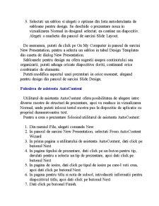 Aplicatia Microsoft Power Point - Pagina 3