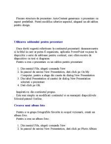 Aplicatia Microsoft Power Point - Pagina 4
