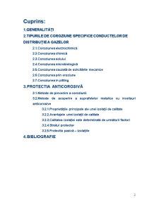 Coroziunea Conductelor de Distributie a Gazelor - Pagina 2