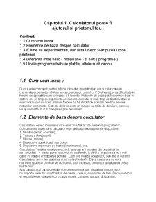 Introducere în Utilizarea Calculatorului Personal - Pagina 4