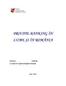Private Banking în România și în Lume - Pagina 1