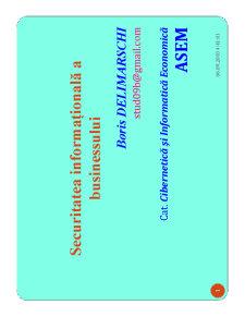 Securitatea Informationala a Business-ului - Pagina 1