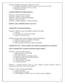 Continutul Tematic al Cursului de Criminalistica - Pagina 3