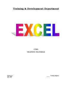 Curs Excel  pentru Incepatori - Pagina 1