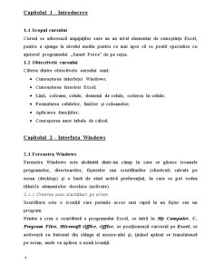 Curs Excel  pentru Incepatori - Pagina 4