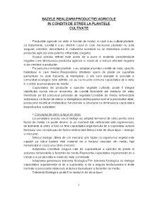 Bazele Realizarii Productiei Agricole in Conditii de Stres - Pagina 1