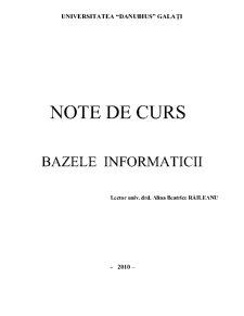 Bazele Informaticii - Curs 1 - Pagina 1