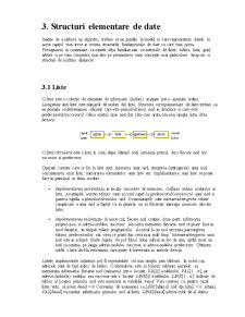 Structuri de Date - Liste - Pagina 1
