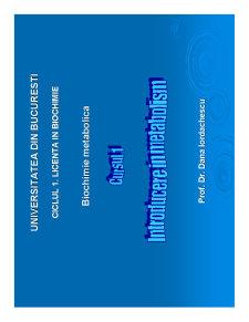 Biochimie Metabolica - Pagina 1