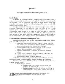 Condiții de Valabilitate ale Actului Juridic Civil - Pagina 2
