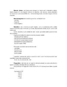 Arhitectura Microcalculatoarelor Tip IBM-PC. Configuratii, Caracteristici. Reguli de Instalare si Exploatare - Pagina 2