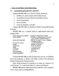 Elaborarea Locației Web pentru SRL Neotec - Pagina 5