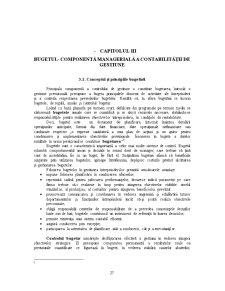 Bugetul - Componenta Manageriala a Contabilitatii de Gestiune - Pagina 1