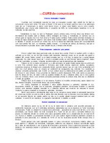 Mini Curs de Comunicare - Pagina 1