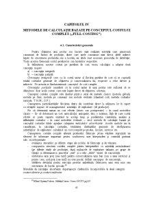 Metodele de Calculatie Bazate pe Conceptul Costului Complet (Full-Costing) - Pagina 1