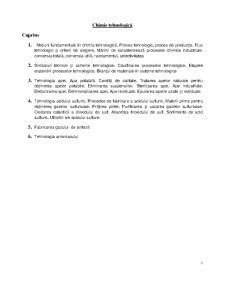 Chimie Tehnologică - Pagina 1
