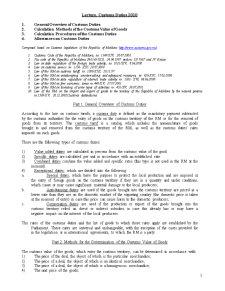 Custom Duties - Pagina 1
