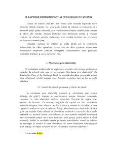Factorii Determinanti ai Cursurilor de Schimb - Pagina 1