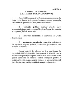 Analiza Stadiului Pregătirii României în Procesul de Integrare în Uniunea Europeană - Pagina 3