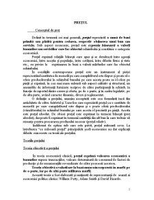 Prețul și Mecanismul Prețurilor - Pagina 2