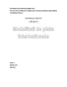 Modalitati de Plata Internationale - Pagina 1