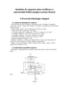 Instalatie de Separare prin Rectificare a Amestecului Lichid Omogen Acetone-Benzen - Pagina 3