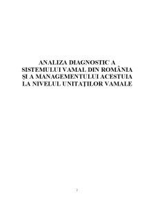 Analiza Diagnostic a Sistemului Vamal din România și a Managementului Acestuia la Nivelul Unitaților Vamale - Pagina 5