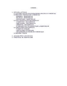 Strategia Comercială a Magazinului Spar - Pagina 2