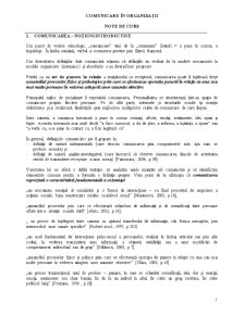 Comunicare în Organizații - Pagina 1