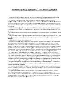 Principii și Politici Contabile. Tratamente Contabile - Pagina 1