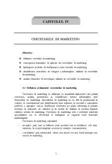 Cercetări de Marketing - Pagina 1