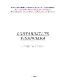 Note de Curs Contabilitate Financiara - Pagina 1