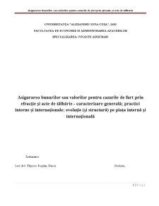 Asigurarea Bunurilor sau Valorilor pentru Cazurile de Furt prin Efracție și Acte de Tâlhărie - Pagina 1