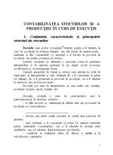 Contabilitatea Stocurilor și a Producției în Curs de Execuție - Pagina 1