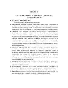 Sistemele Biologice - Pagina 1
