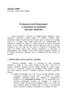 Evaluarea Stării Funcționale a Sistemelor de Instalații Aferente Clădirilor - Pagina 1